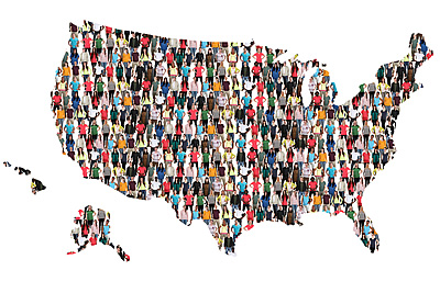USA with People in Every State